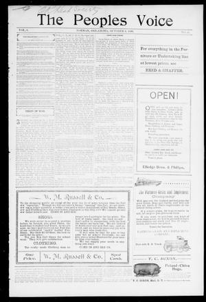 The Peoples Voice (Norman, Okla.), Vol. 8, No. 11, Ed. 1 Friday, October 6, 1899