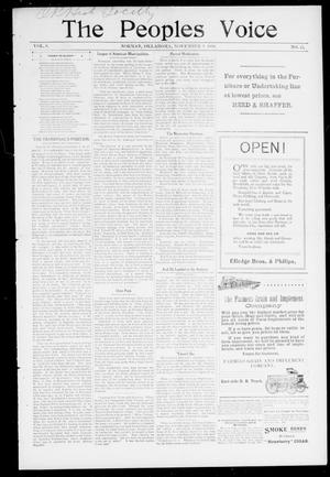 The Peoples Voice (Norman, Okla.), Vol. 8, No. 15, Ed. 1 Friday, November 3, 1899
