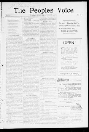 The Peoples Voice (Norman, Okla.), Vol. 8, No. 16, Ed. 1 Friday, November 10, 1899