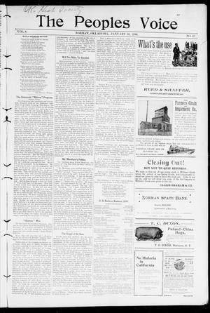 The Peoples Voice (Norman, Okla.), Vol. 8, No. 27, Ed. 1 Friday, January 26, 1900