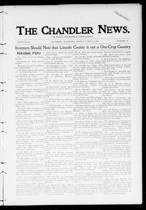 Primary view of object titled 'The Chandler News. (Chandler, Okla.), Vol. 9, No. 39, Ed. 1 Friday, June 15, 1900'.