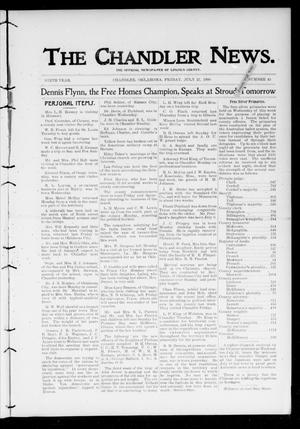 Primary view of object titled 'The Chandler News. (Chandler, Okla.), Vol. 9, No. 45, Ed. 1 Friday, July 27, 1900'.
