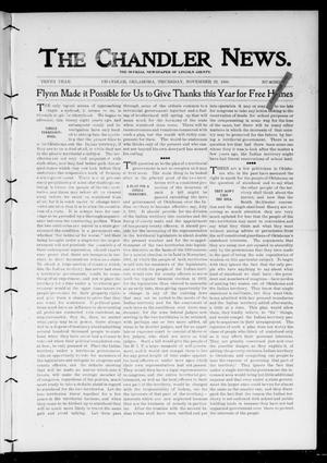 Primary view of object titled 'The Chandler News. (Chandler, Okla.), Vol. 10, No. 11, Ed. 1 Thursday, November 29, 1900'.