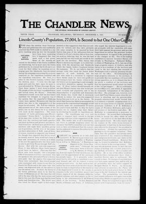 Primary view of object titled 'The Chandler News. (Chandler, Okla.), Vol. 10, No. 12, Ed. 1 Thursday, December 6, 1900'.