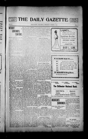 Primary view of object titled 'The Daily Gazette. (Stillwater, Okla.), Vol. 1, No. 27, Ed. 1 Thursday, March 7, 1901'.