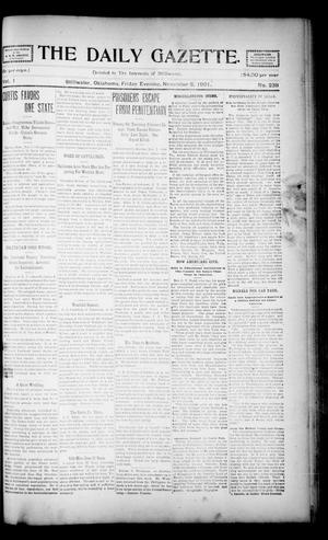 Primary view of object titled 'The Daily Gazette. (Stillwater, Okla.), Vol. 1, No. 238, Ed. 1 Friday, November 8, 1901'.