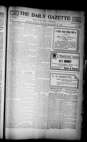Primary view of object titled 'The Daily Gazette. (Stillwater, Okla.), Vol. 1, No. 290, Ed. 1 Friday, January 10, 1902'.