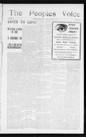 The Peoples Voice (Norman, Okla.), Vol. 13, No. 35, Ed. 1 Friday, March 10, 1905