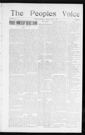 Primary view of object titled 'The Peoples Voice (Norman, Okla.), Vol. 13, No. 41, Ed. 1 Friday, April 21, 1905'.