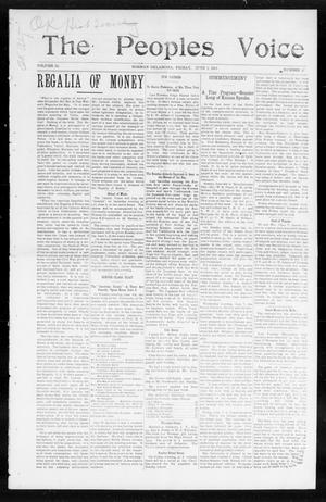 The Peoples Voice (Norman, Okla.), Vol. 13, No. 47, Ed. 1 Friday, June 2, 1905
