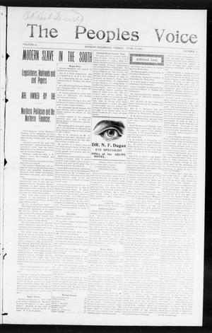 The Peoples Voice (Norman, Okla.), Vol. 13, No. 51, Ed. 1 Friday, June 30, 1905
