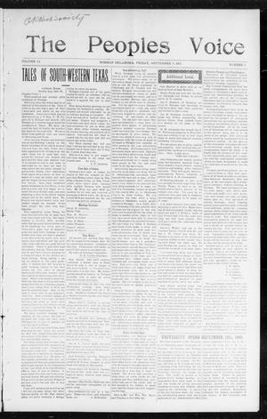 The Peoples Voice (Norman, Okla.), Vol. 14, No. 9, Ed. 1 Friday, September 8, 1905