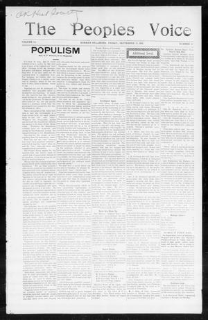 The Peoples Voice (Norman, Okla.), Vol. 14, No. 10, Ed. 1 Friday, September 15, 1905