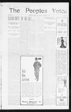 The Peoples Voice (Norman, Okla.), Vol. 14, No. 15, Ed. 1 Friday, October 20, 1905