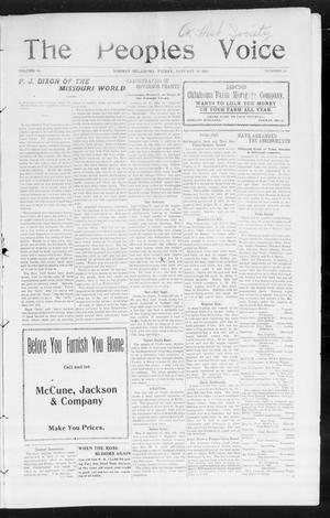 The Peoples Voice (Norman, Okla.), Vol. 14, No. 28, Ed. 1 Friday, January 19, 1906