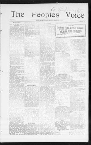 Primary view of object titled 'The Peoples Voice (Norman, Okla.), Vol. 14, No. 31, Ed. 1 Friday, February 9, 1906'.
