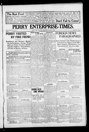 Primary view of object titled 'Perry Enterprise-Times. (Perry, Okla.), Vol. 20, No. 33, Ed. 1 Thursday, August 14, 1913'.