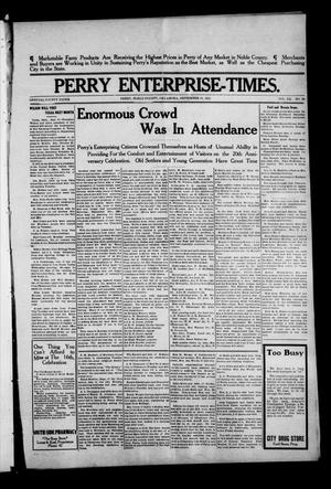 Primary view of object titled 'Perry Enterprise-Times. (Perry, Okla.), Vol. 20, No. 39, Ed. 1 Thursday, September 18, 1913'.
