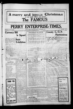 Primary view of object titled 'Perry Enterprise-Times. (Perry, Okla.), Vol. 20, No. 52, Ed. 1 Thursday, December 25, 1913'.