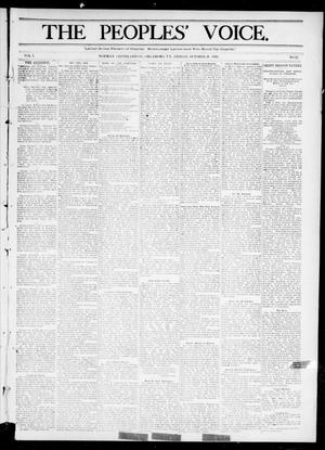 The Peoples' Voice. (Norman, Okla. Terr.), Vol. 1, No. 12, Ed. 1 Friday, October 21, 1892