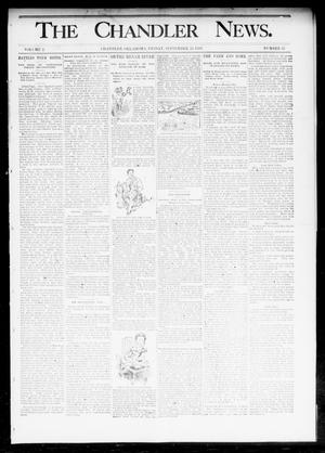 Primary view of object titled 'The Chandler News. (Chandler, Okla.), Vol. 2, No. 52, Ed. 1 Friday, September 15, 1893'.
