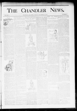 Primary view of object titled 'The Chandler News. (Chandler, Okla.), Vol. 3, No. 2, Ed. 1 Friday, September 29, 1893'.