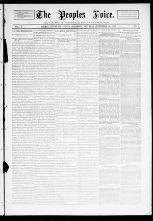 Primary view of object titled 'The Peoples Voice. (Norman, Okla.), Vol. 2, No. 9, Ed. 1 Saturday, September 30, 1893'.