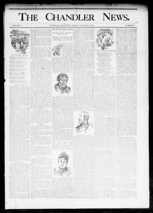 Primary view of object titled 'The Chandler News. (Chandler, Okla.), Vol. 3, No. 2, Ed. 1 Friday, October 6, 1893'.