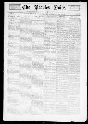 Primary view of object titled 'The Peoples Voice. (Norman, Okla.), Vol. 2, No. 10, Ed. 1 Saturday, October 7, 1893'.