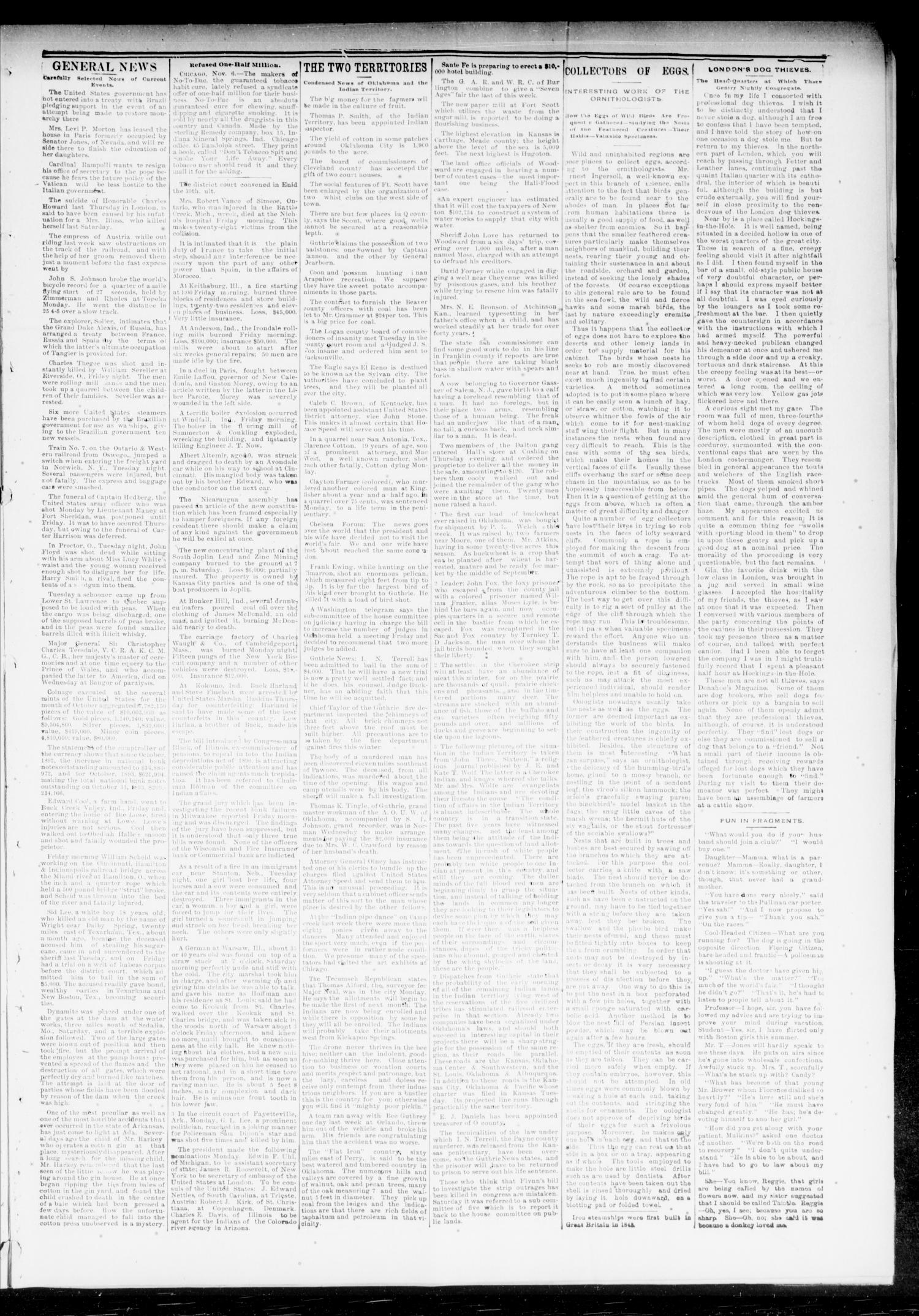The Chandler News. (Chandler, Okla.), Vol. 3, No. 7, Ed. 1 Friday, November 10, 1893                                                                                                      [Sequence #]: 3 of 8