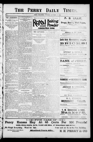 Primary view of object titled 'The Perry Daily Times. (Perry, Okla.), Vol. 1, No. 84, Ed. 1 Tuesday, December 26, 1893'.