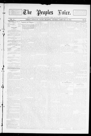 Primary view of object titled 'The Peoples Voice. (Norman, Okla.), Vol. 2, No. 30, Ed. 1 Saturday, February 24, 1894'.