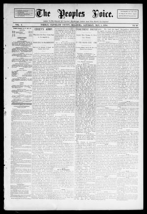 Primary view of object titled 'The Peoples Voice. (Norman, Okla.), Vol. 2, No. 40, Ed. 1 Saturday, May 5, 1894'.