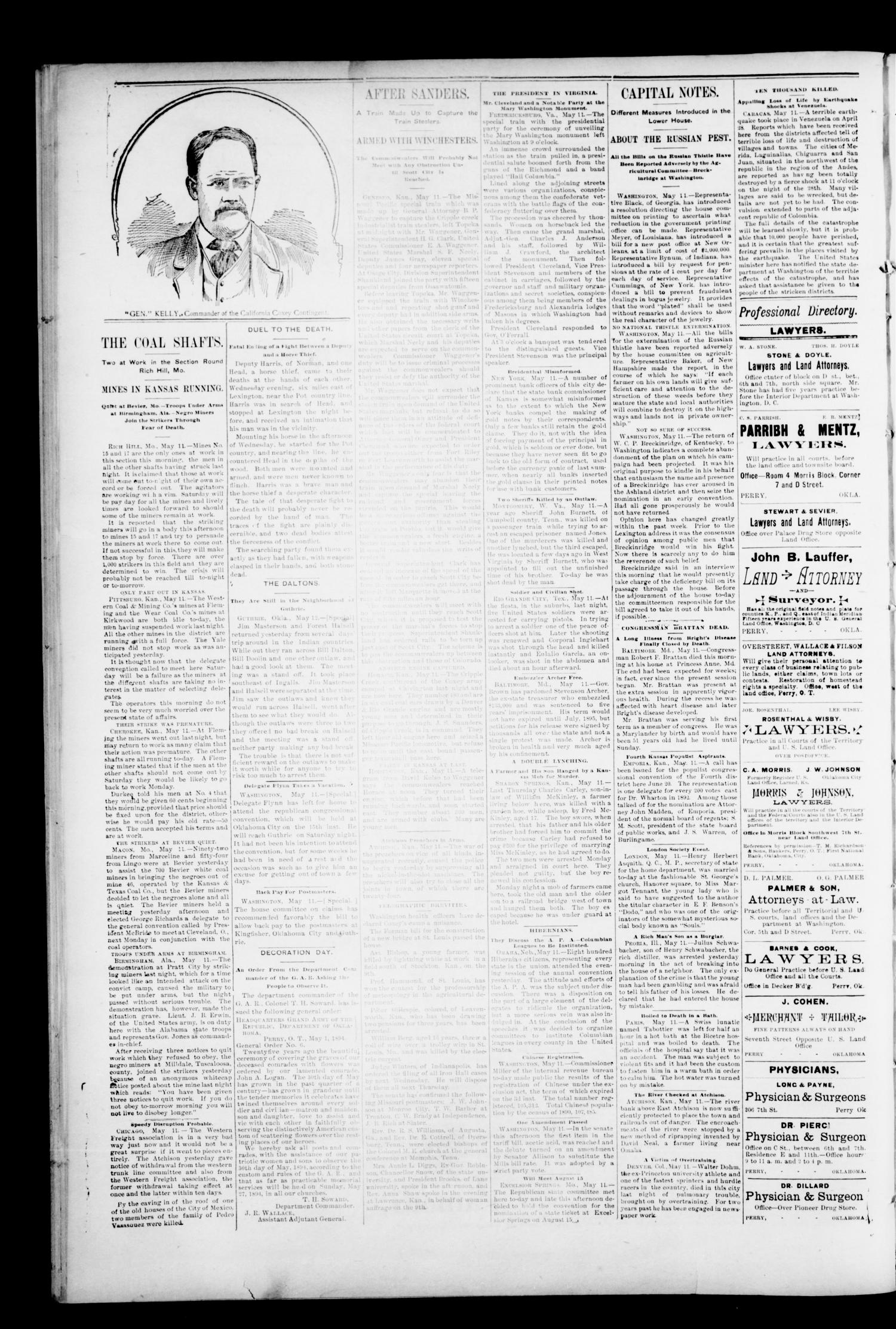 The Perry Daily Times. (Perry, Okla.), Vol. 1, No. 200, Ed. 1 Saturday, May 12, 1894                                                                                                      [Sequence #]: 4 of 4