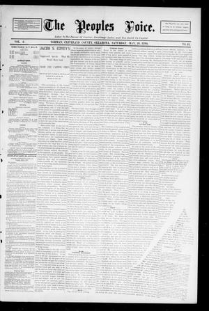 Primary view of object titled 'The Peoples Voice. (Norman, Okla.), Vol. 2, No. 43, Ed. 1 Saturday, May 26, 1894'.