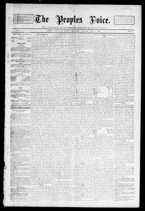 Primary view of object titled 'The Peoples Voice. (Norman, Okla.), Vol. 2, No. 44, Ed. 1 Saturday, June 2, 1894'.