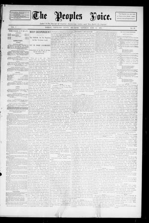 Primary view of object titled 'The Peoples Voice. (Norman, Okla.), Vol. 2, No. 48, Ed. 1 Saturday, June 30, 1894'.