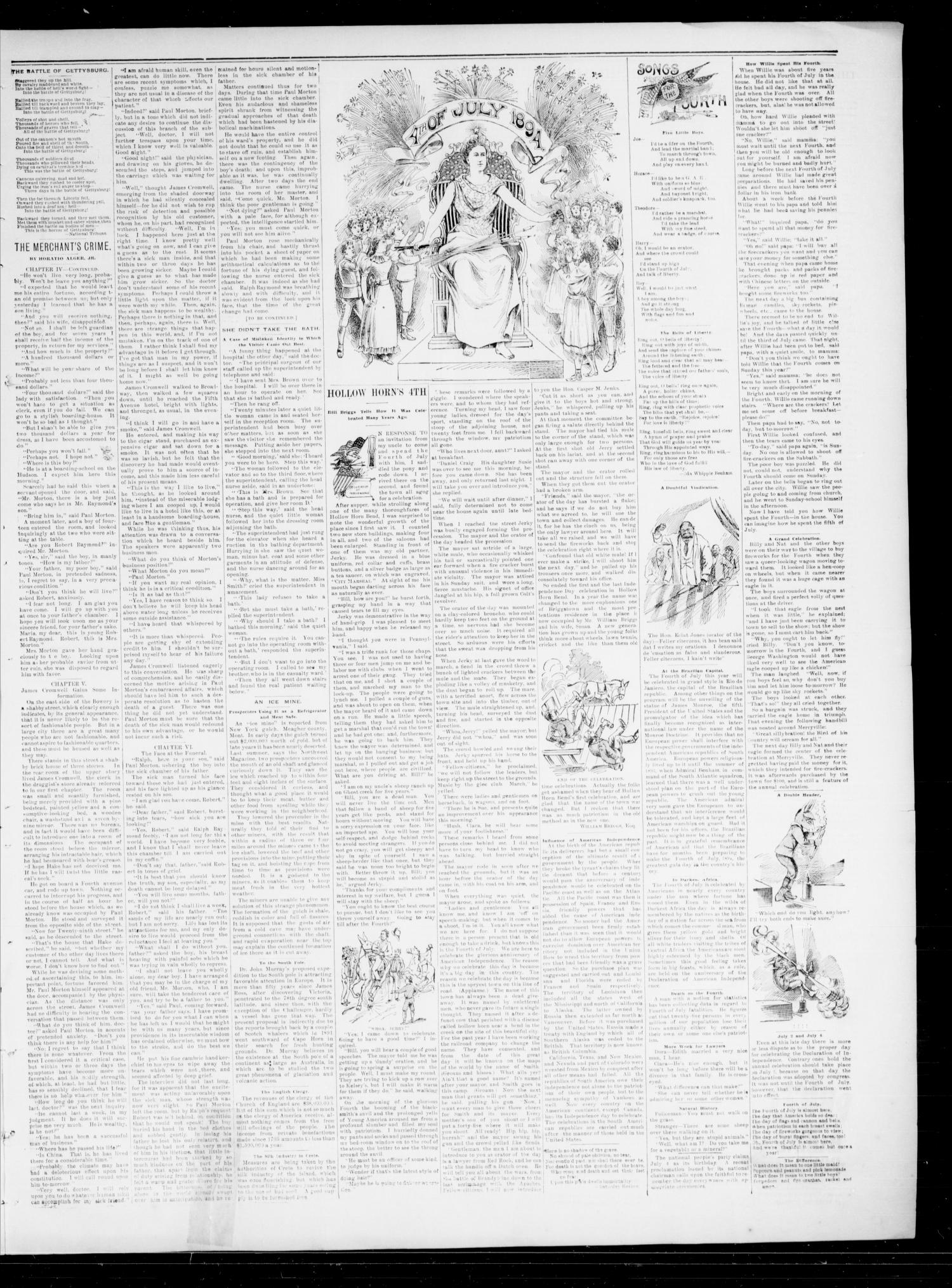 The State Democrat. (Norman, Okla.), Vol. 5, No. 121, Ed. 1 Wednesday, July 4, 1894                                                                                                      [Sequence #]: 3 of 4