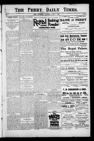 Primary view of object titled 'The Perry Daily Times. (Perry, Okla.), Vol. 1, No. 269, Ed. 1 Thursday, August 2, 1894'.