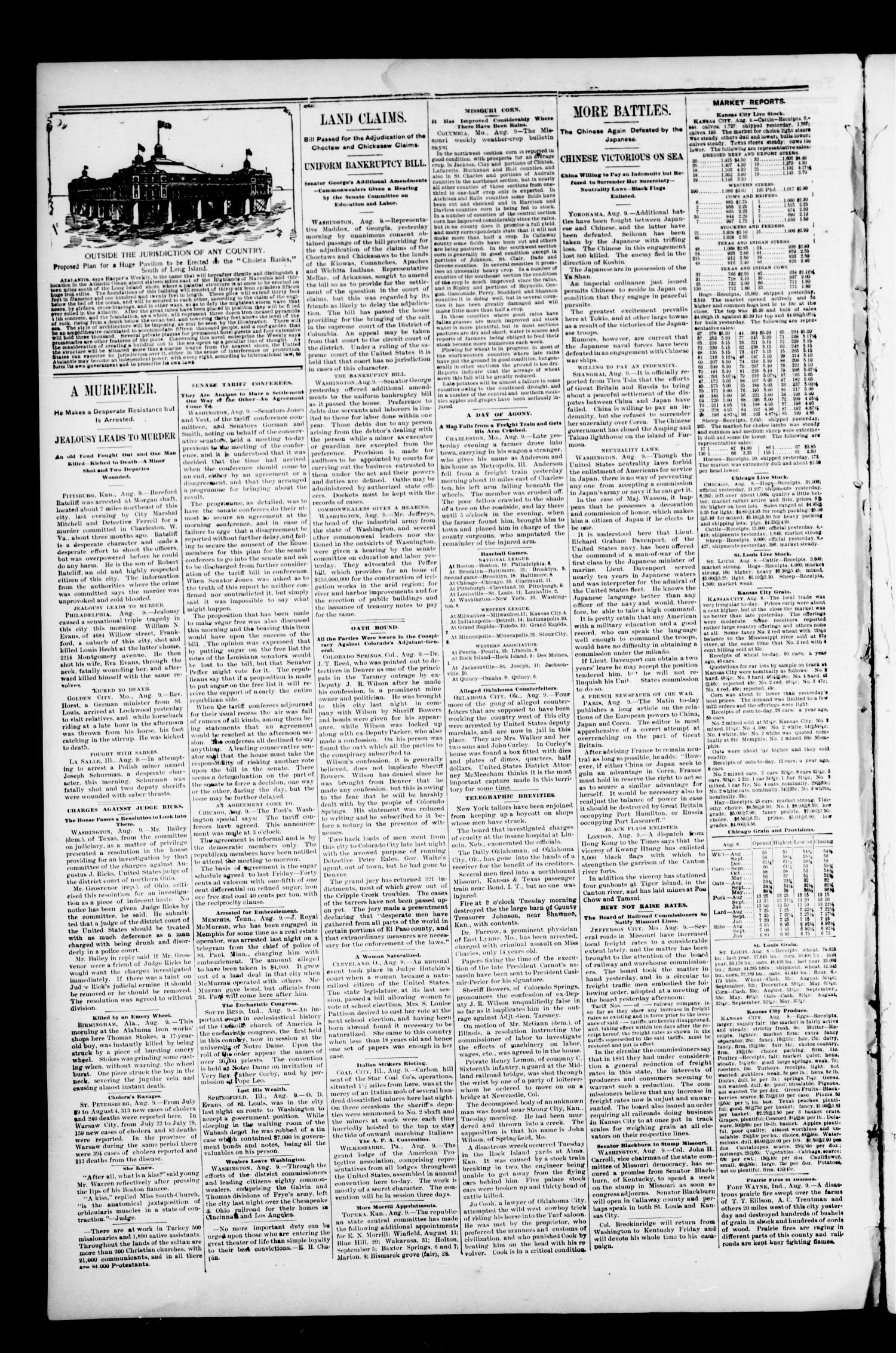 The Perry Daily Times. (Perry, Okla.), Vol. 1, No. 276, Ed. 1 Friday, August 10, 1894                                                                                                      [Sequence #]: 4 of 4