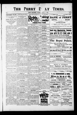 Primary view of object titled 'The Perry Daily Times. (Perry, Okla.), Vol. 1, No. 282, Ed. 1 Friday, August 17, 1894'.