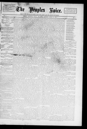 Primary view of object titled 'The Peoples Voice. (Norman, Okla.), Vol. 3, No. 3, Ed. 1 Saturday, August 18, 1894'.