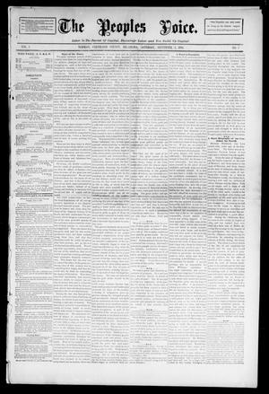 Primary view of object titled 'The Peoples Voice. (Norman, Okla.), Vol. 3, No. 5, Ed. 1 Saturday, September 1, 1894'.