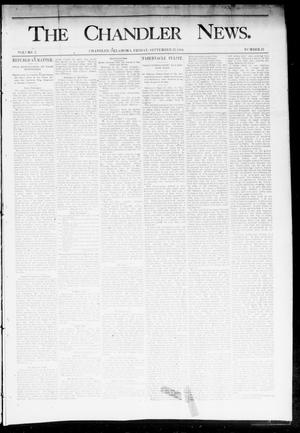 Primary view of object titled 'The Chandler News. (Chandler, Okla.), Vol. 3, No. 42, Ed. 1 Friday, September 21, 1894'.