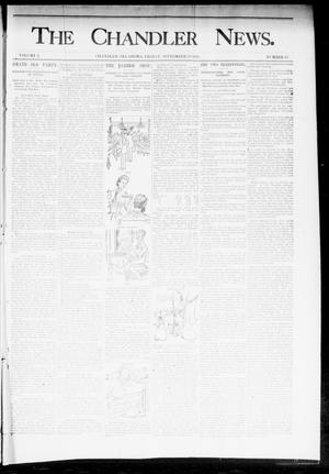 Primary view of object titled 'The Chandler News. (Chandler, Okla.), Vol. 3, No. 43, Ed. 1 Friday, September 28, 1894'.