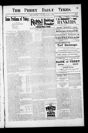 Primary view of object titled 'The Perry Daily Times. (Perry, Okla.), Vol. 2, No. 33, Ed. 1 Wednesday, October 24, 1894'.