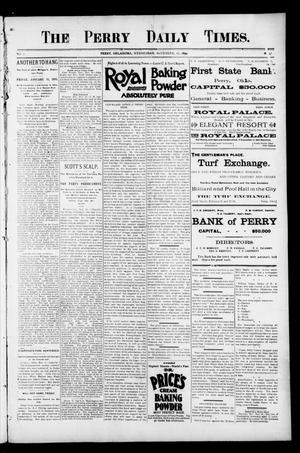 Primary view of object titled 'The Perry Daily Times. (Perry, Okla.), Vol. 2, No. 57, Ed. 1 Wednesday, November 21, 1894'.