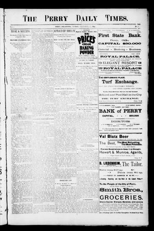 Primary view of object titled 'The Perry Daily Times. (Perry, Okla.), Vol. 2, No. 77, Ed. 1 Friday, December 21, 1894'.