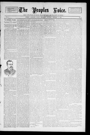 Primary view of object titled 'The Peoples Voice. (Norman, Okla.), Vol. 3, No. 21, Ed. 1 Saturday, December 22, 1894'.