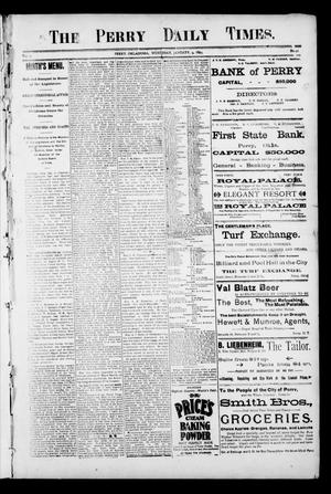 Primary view of object titled 'The Perry Daily Times. (Perry, Okla.), Vol. 2, No. 92, Ed. 1 Wednesday, January 9, 1895'.